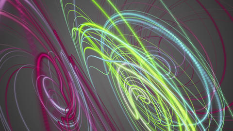 Fantastic video animation with stripe wave object in motion, loop HD Animation