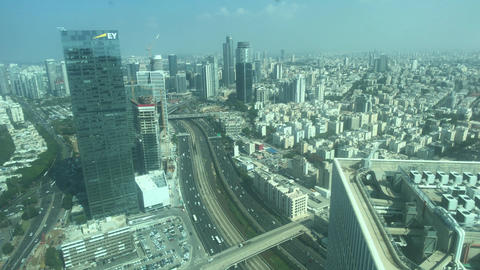Tel Aviv, Israel - View of the city from the height of the skyscraper part 16 Live Action