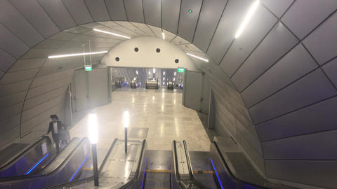 Jerusalem, Israel - October 20, 2019: tourists in the subway building part 6 Live Action
