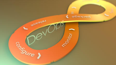 DevOps, software development flow Animation