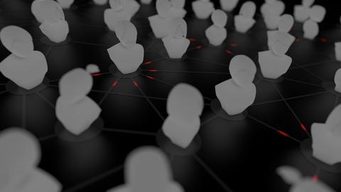 Blockchain ID, decentralized digital identity concept animation Animation
