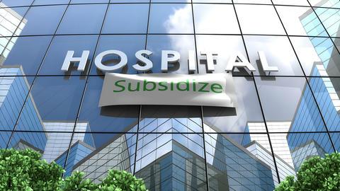 Hospital building Subsidize healthcare Animation