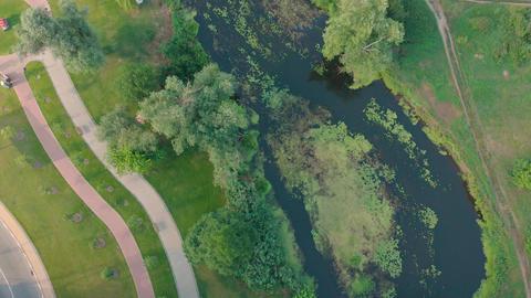 Green River Banks Aerial Live Action
