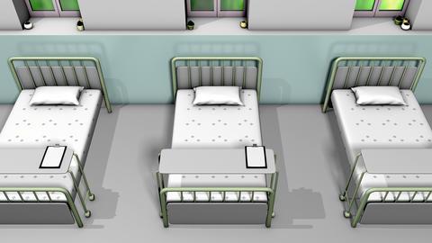 Hospital ward bed animation Animation