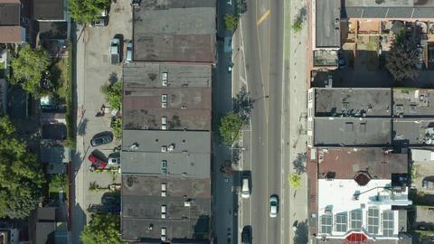 4K Aerial Establishing shot of a Toronto neighborhood Live Action