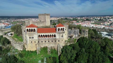 Medieval Templar Knights Castle in Leiria Acción en vivo