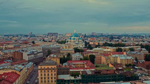 Aerial view of St. Petersburg 154 Acción en vivo
