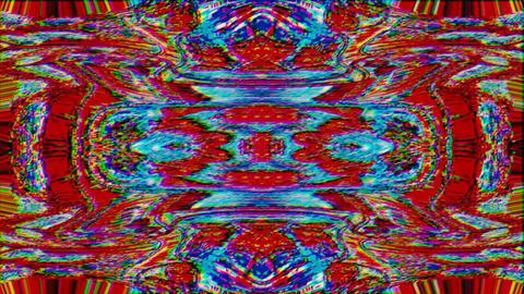 Kaleidoscope vintage nostalgic elegant holographic background. Corrupted Live Action