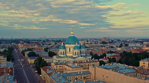 Aerial view of St. Petersburg 155 Acción en vivo