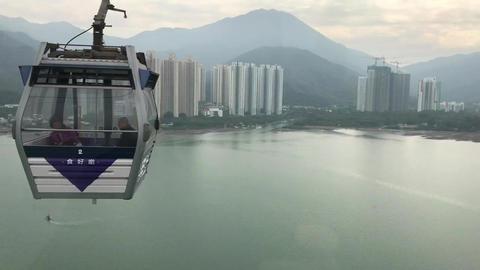 Hong Kong, China, A view of a city Acción en vivo