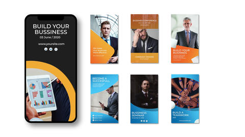 Corporate Instagram Stories Apple Motion Template