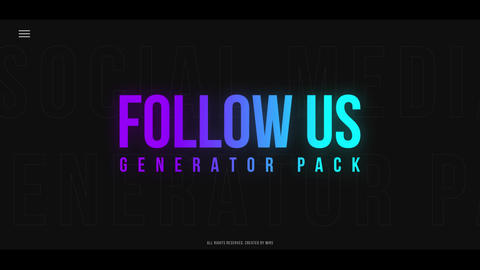 Follow Us Generator Pack Premiere Pro Template