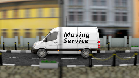 Moving service vehicle Animation