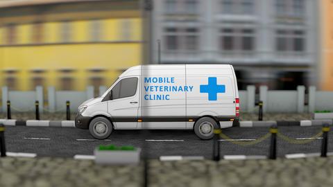 Mobile Veterinary van Animation