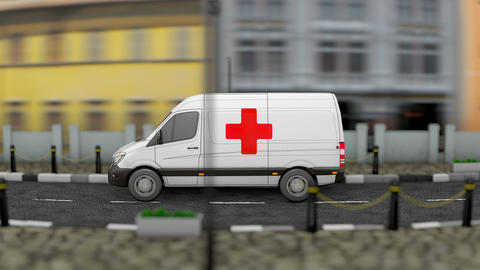 Mobile health clinic animation Animation