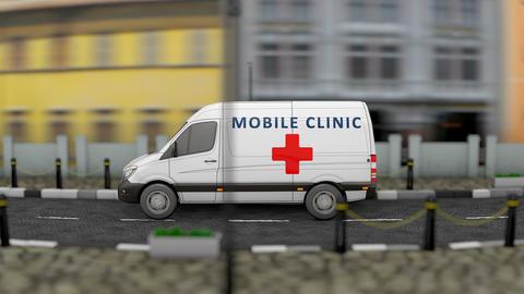 Mobile health clinic animation Animation