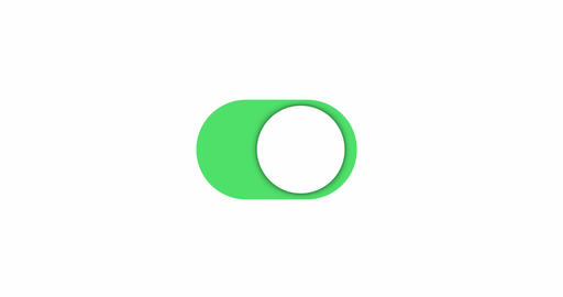 Toggle settings switch button, animation isolated Animation