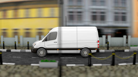 Delivery service vehicle Animation