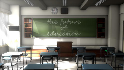 Classroom black board text, the future of Education Animation