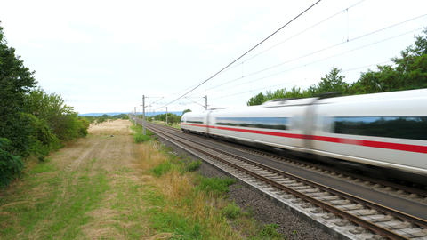 Passing highspeed ICE train Live Action
