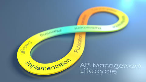 API Management Lifecycle concept animation background Animation