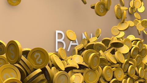 Bank increasing fund animation Animation