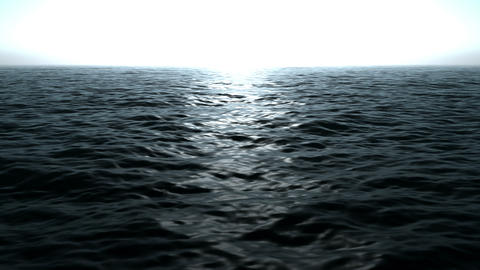 Wonderful ocean waves video animation, loop HD Videos animados