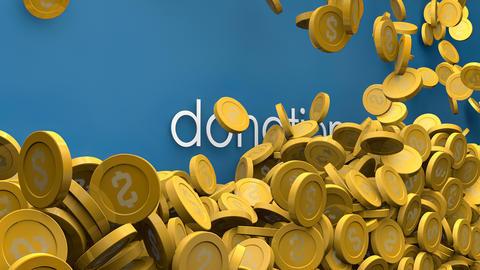 Rising donation fund 3d animation Animation