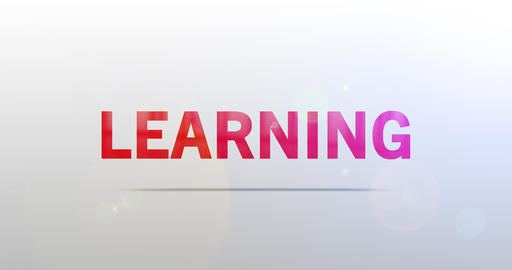 Learning. Particle Logo. Text Animation CG動画