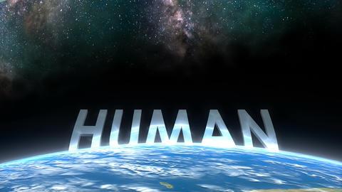 Earth horizon view, Human Animation