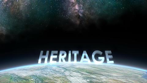 Earth horizon view, Heritage Animation