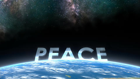 Earth horizon view, Peace Animation
