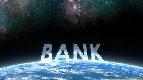 Earth horizon view, Bank Animation