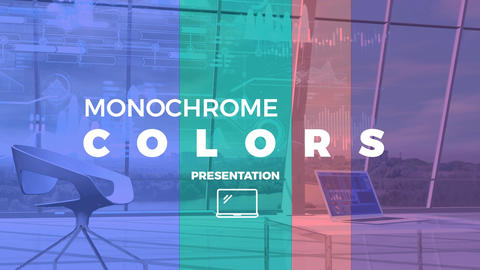 Monochrome Colors Presentation After Effects Template