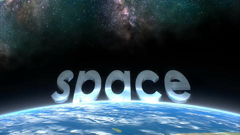 Earth horizon view, Space Animation