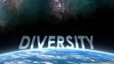 Earth horizon view, Diversity Animation