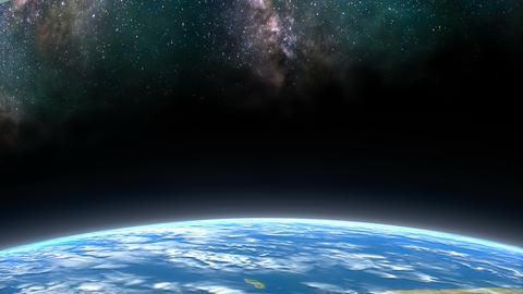 Earth horizon view, Horizon word Animation