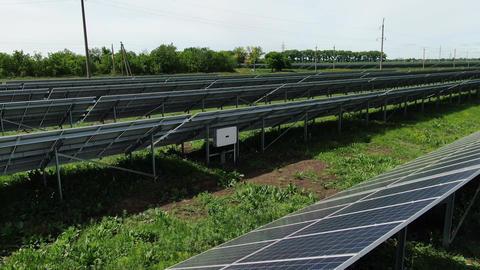 Solar power station, renewable eco friendly energy source, 4k Live Action