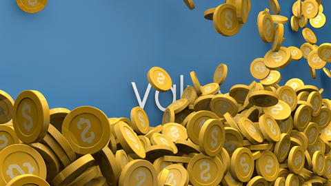 Increasing value coins animation Animation