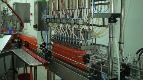 Bottling Of Lemonade In Plastic Bottles Lemonade Bottle Conveyor Industry Live Action