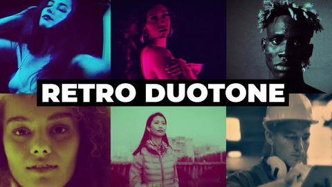 Retro Duotone Effects After Effects Animation Preset