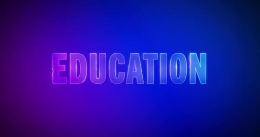 Education. Electric lightning words. Logotype CG動画