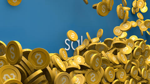 Salary and income Increasing coins animation Animation