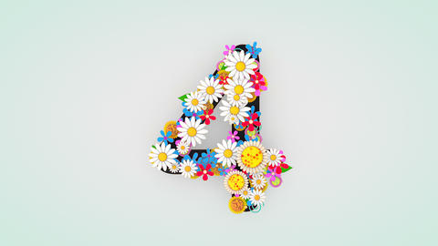 Numerical digit floral animation, 4 Animation