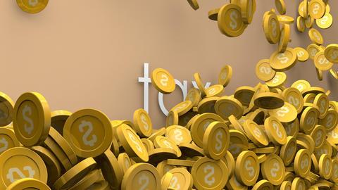 Rising tax 3d animation Animation