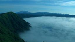 Fog on Lake Mashu, Hokkaido, Japan Footage