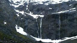 Waterfall in New Zealand Footage