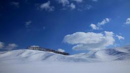 Snowy hill and trees in Teshikaga, Hokkaido, Japan Footage