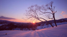 Drifting Snow at Koshimizu Pass, Hokkaido, Japan Footage