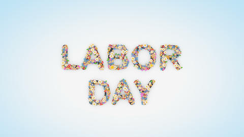 Labor Day floral text background animation Animation